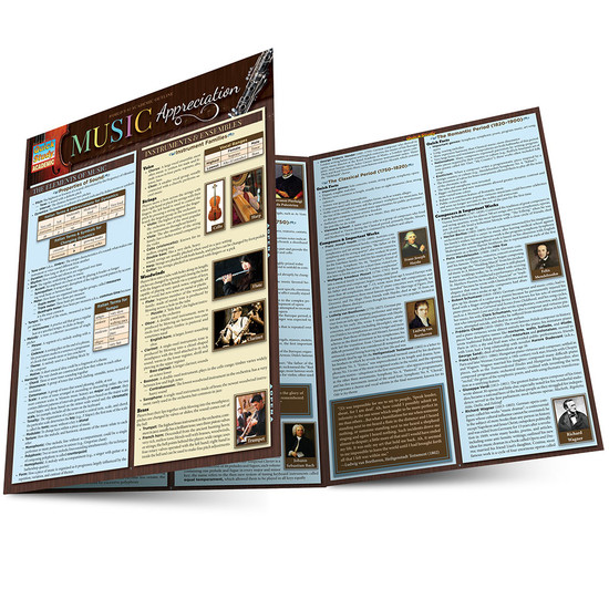QuickStudy | Music Appreciation Laminated Reference Guide