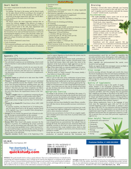 Quick Study QuickStudy Natural Remedies Laminated Reference Guide BarCharts Publishing Health Guide Back Image