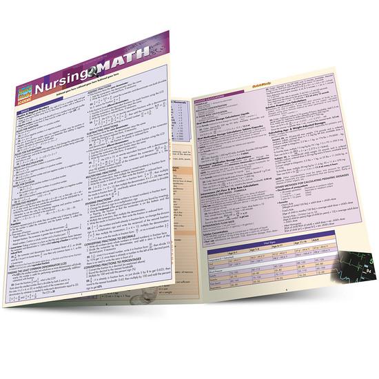 Quick Study QuickStudy Nursing Math Laminated Study Guide BarCharts Publishing Medical Math Guide Main Image