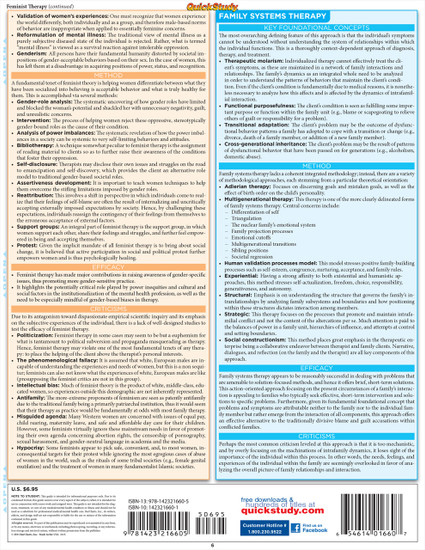 QuickStudy   Psychology: Counseling & Psychotherapy Laminated Study Guide