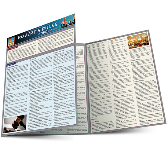 Quick Study QuickStudy Robert's Rules Of Order Laminated Study Guide BarCharts Publishing Academic Reference Guide Main Image