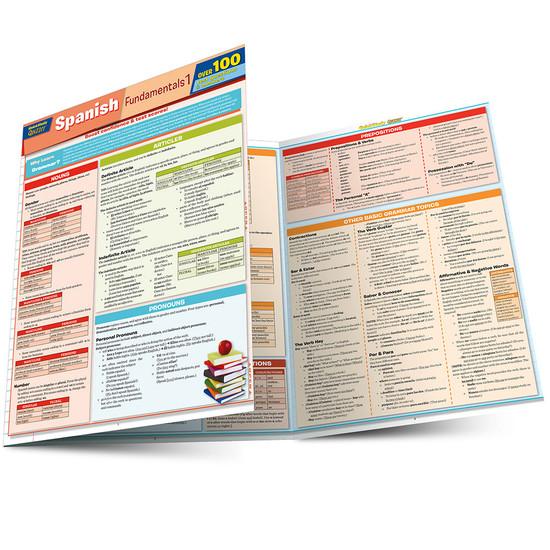 QuickStudy   Spanish Fundamentals 1 Quizzer Laminated Study Guide