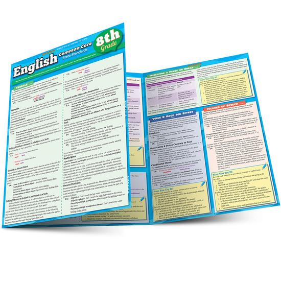 QuickStudy | English: Common Core - 8th Grade Laminated Study Guide