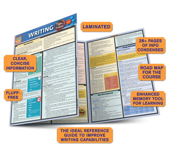 Quick Study QuickStudy Writing Tips & Tricks Laminated Study Guide BarCharts Publishing Reference Guide Benefits