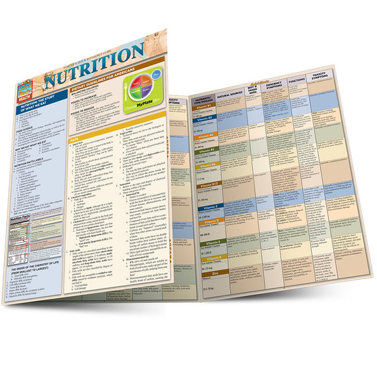 QuickStudy Quick Study Nutrition Laminated Study Guide BarCharts Publishing Health Reference Guide Main Image