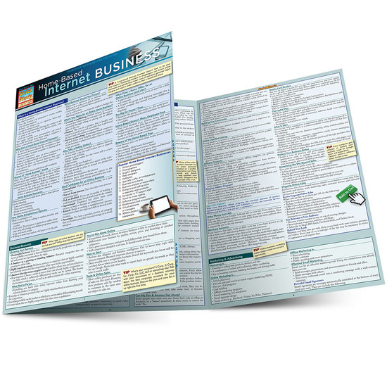 Quick Study QuickStudy Home-Based Internet Business Laminated Reference Guide BarCharts Publishing Career Education Guide Main Image