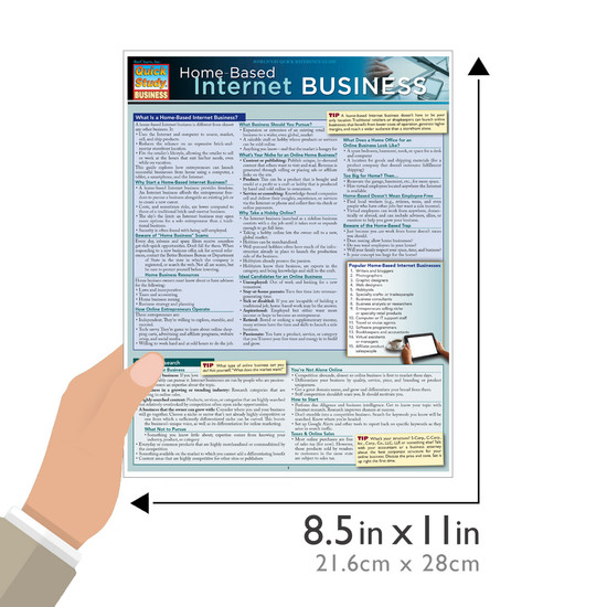 Quick Study QuickStudy Home-Based Internet Business Laminated Reference Guide BarCharts Publishing Career Education Guide Size