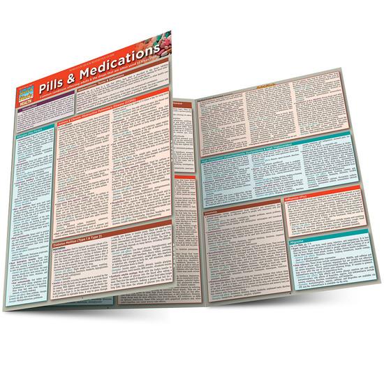 QuickStudy Quick Study Pills & Medications Laminated Reference Guide BarCharts Publishing Medical Main Image