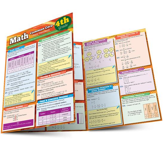 QuickStudy   Math: Common Core 4th Grade Laminated Study Guide