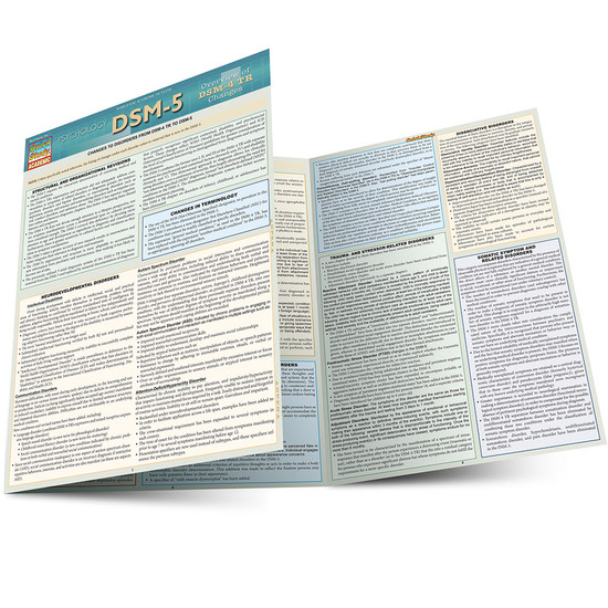 Quick Study QuickStudy DSM-5 Overview of DSM-4 Changes Laminated Study Guide BarCharts Publishing Clinical Psychology Reference Main Image