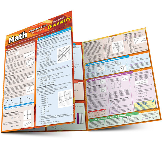 QuickStudy | Math: Common Core Geometry - 10Th Grade Laminated Study Guide