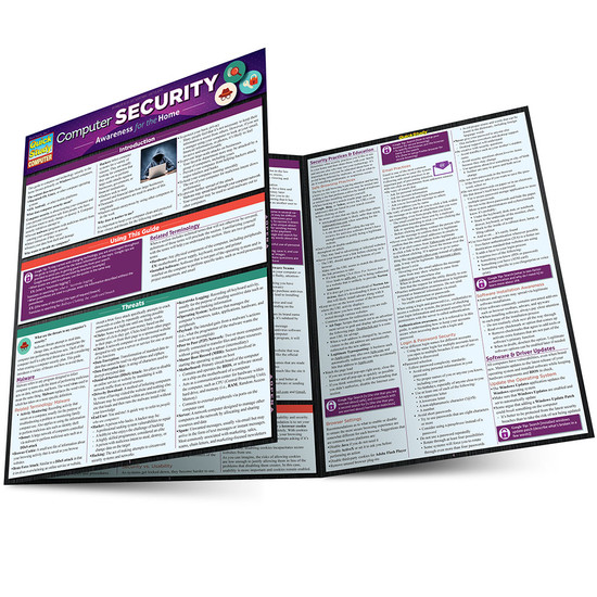 Quick Study QuickStudy Computer Security Laminated Study Guide BarCharts Publishing Reference Guide Main Image