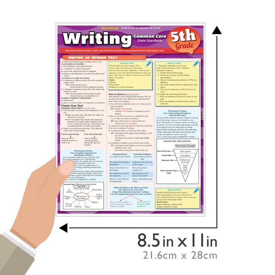 QuickStudy | Writing: Common Core - 5Th Grade Laminated Study Guide