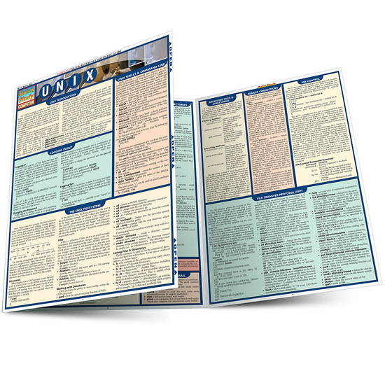 Quick Study QuickStudy Unix Laminated Reference Guide BarCharts Publishing Computer Productivity Outline Main Image
