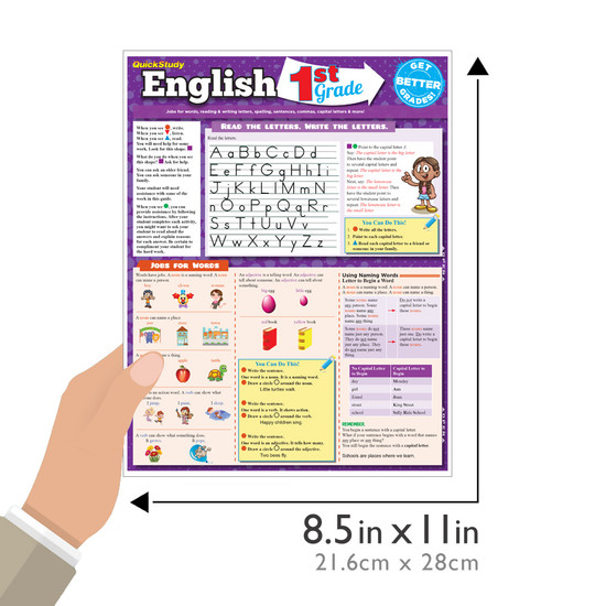 QuickStudy | English: 1st Grade Laminated Study Guide