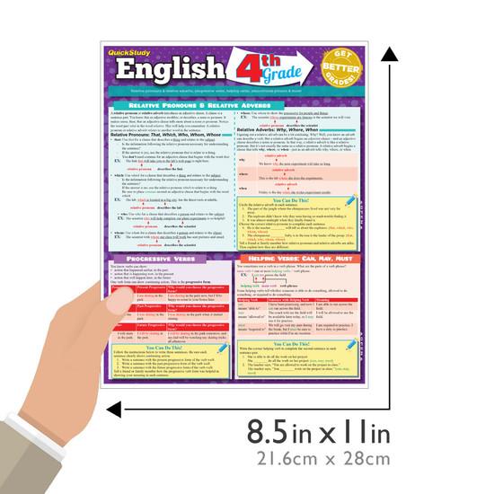 QuickStudy   English: 4th Grade Laminated Study Guide