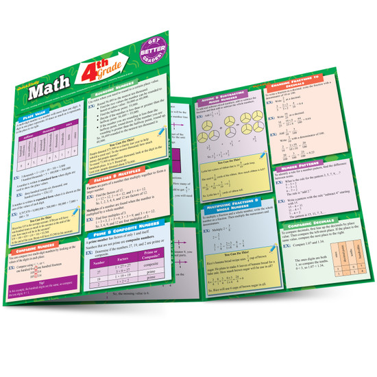 QuickStudy | Math: 4Th Grade Laminated Study Guide