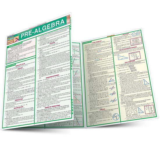 QuickStudy | Pre-Algebra Laminated Study Guide