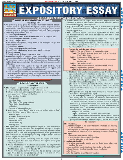 QuickStudy | Expository Essay Laminated Study Guide