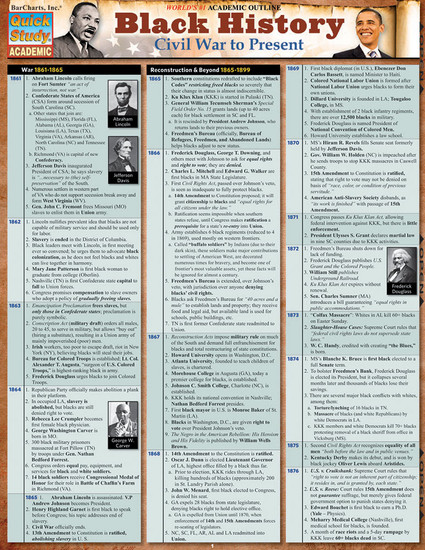 QuickStudy | Black History: Civil War To Present Laminated Study Guide