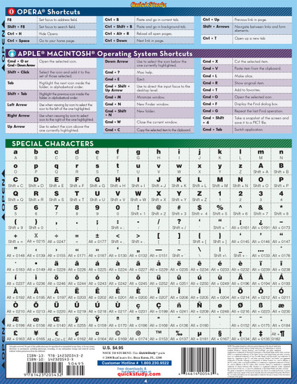 QuickStudy  Quick Study Computer Shortcuts Laminated Reference Guide Back Image