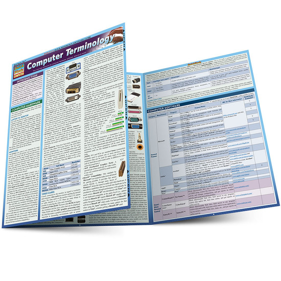 Quick Study QuickStudy Computer Terminology Laminated Study Guide BarCharts Publishing Tech Guide Main Image