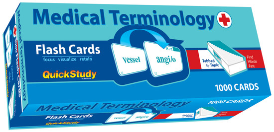 QuickStudy | Medical Terminology Flash Cards