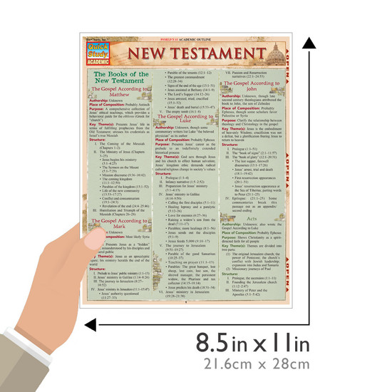 QuickStudy | New Testament Laminated Study Guide