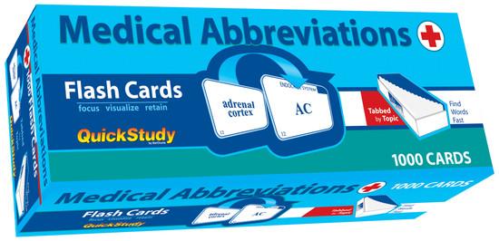 QuickStudy | Medical Abbreviations Flash Cards