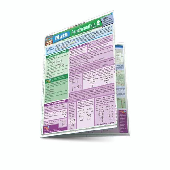QuickStudy   Math Fundamentals 2 Laminated Study Guide