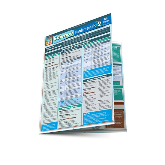 QuickStudy   Science Fundamentals 2: Life Science-Humans Laminated Study Guide