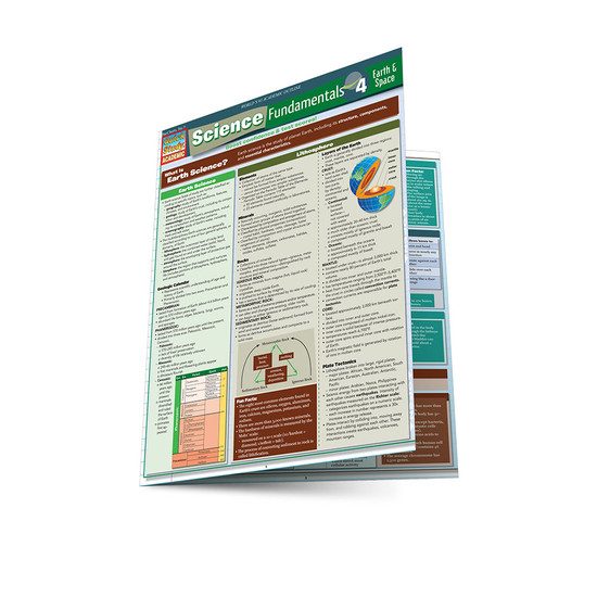 QuickStudy   Science Fundamentals 4: Earth & Space Laminated Study Guide