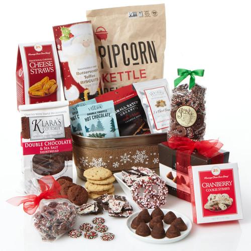 Snowflake Holiday Gourmet Gift Basket