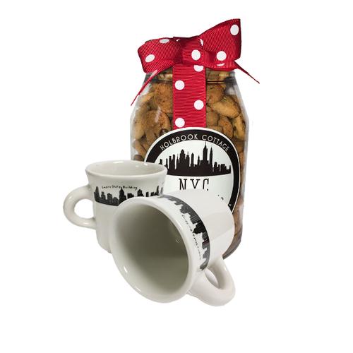 NYC Skyline Mug and Mini Chocolate Chip Cookies