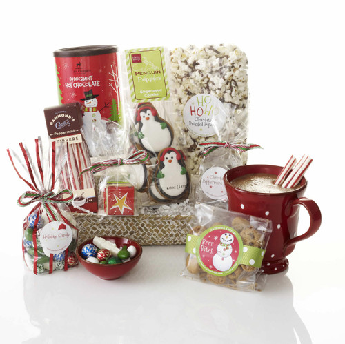 Most Perfect Peppermint Twist Christmas Gift Basket