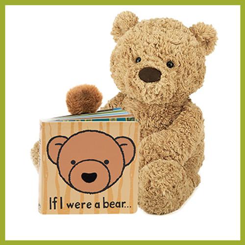 If I Were a Bear book with soft, plush teddy bear
