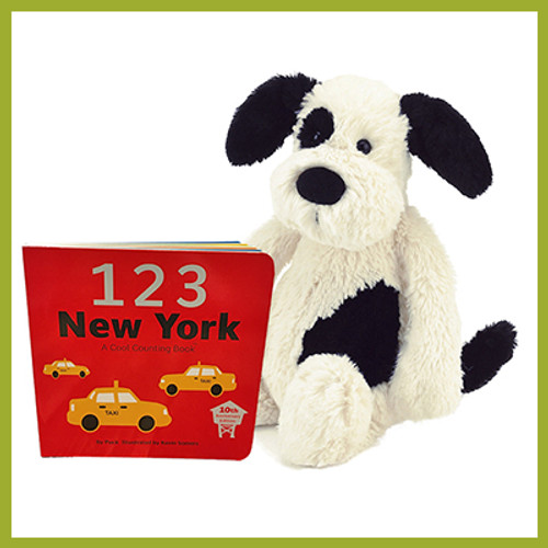 123 New York Book and Plush Puppy