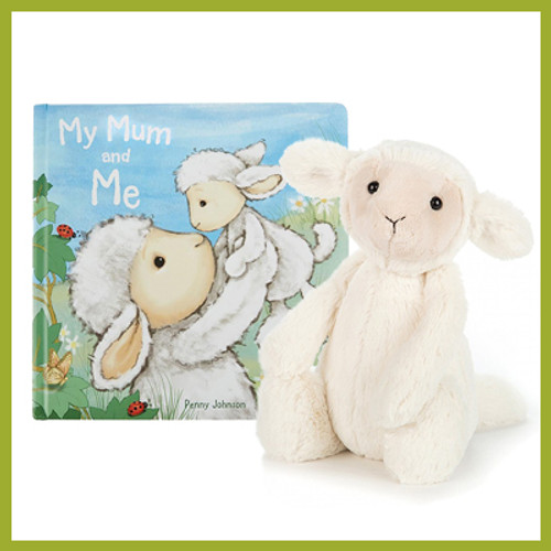Adorable lamb and My Mum and Me book