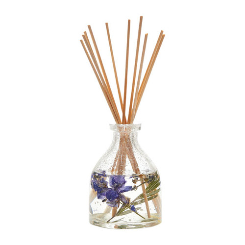 Lavender-Rosemary oil and hand blown glass container.