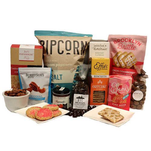 A generous selection of sweet, savory and salty treats.