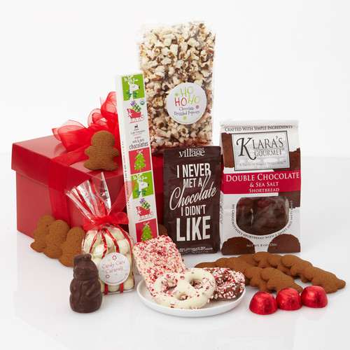 Red Bow-Dacious Holiday Gourmet Gift Basket