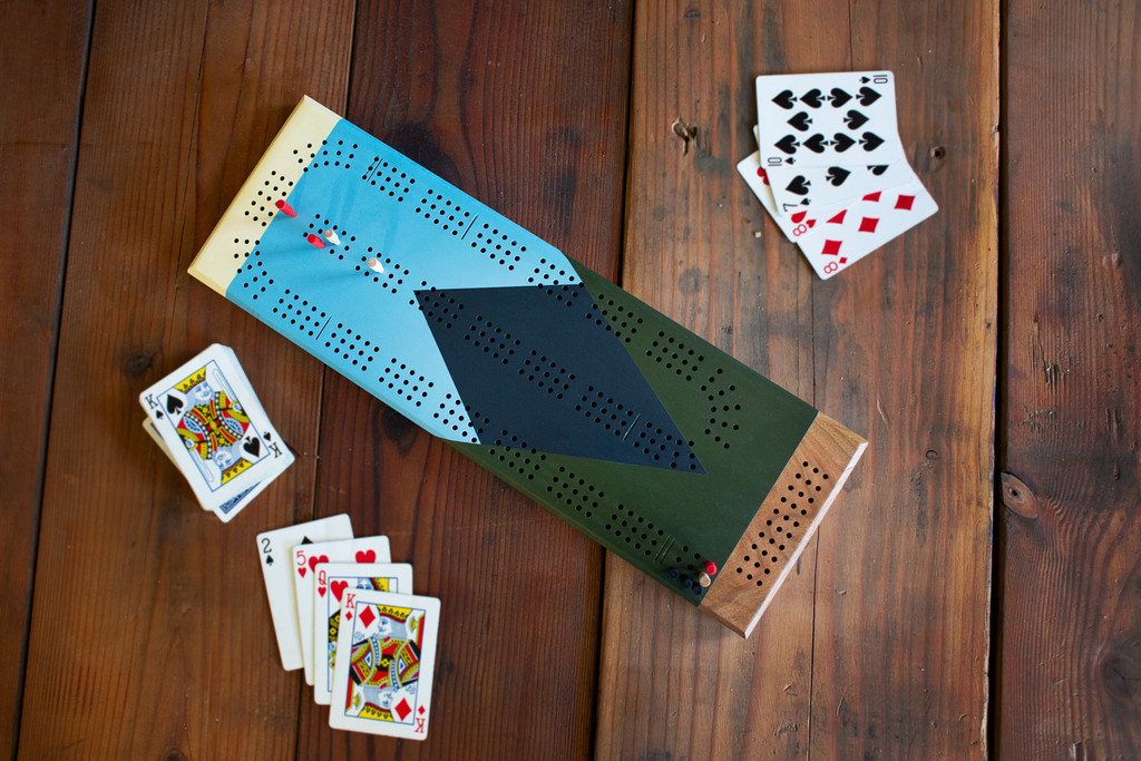 Mountains Cribbage Board