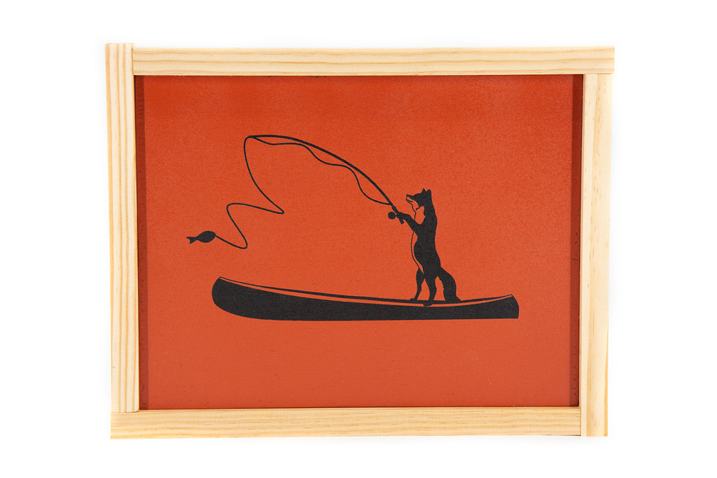 Fishing Fox Painting