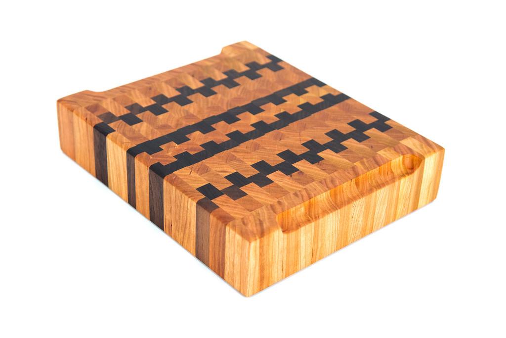 Sanborn Canoe Co End Grain Cutting Board (Cherry and Walnut