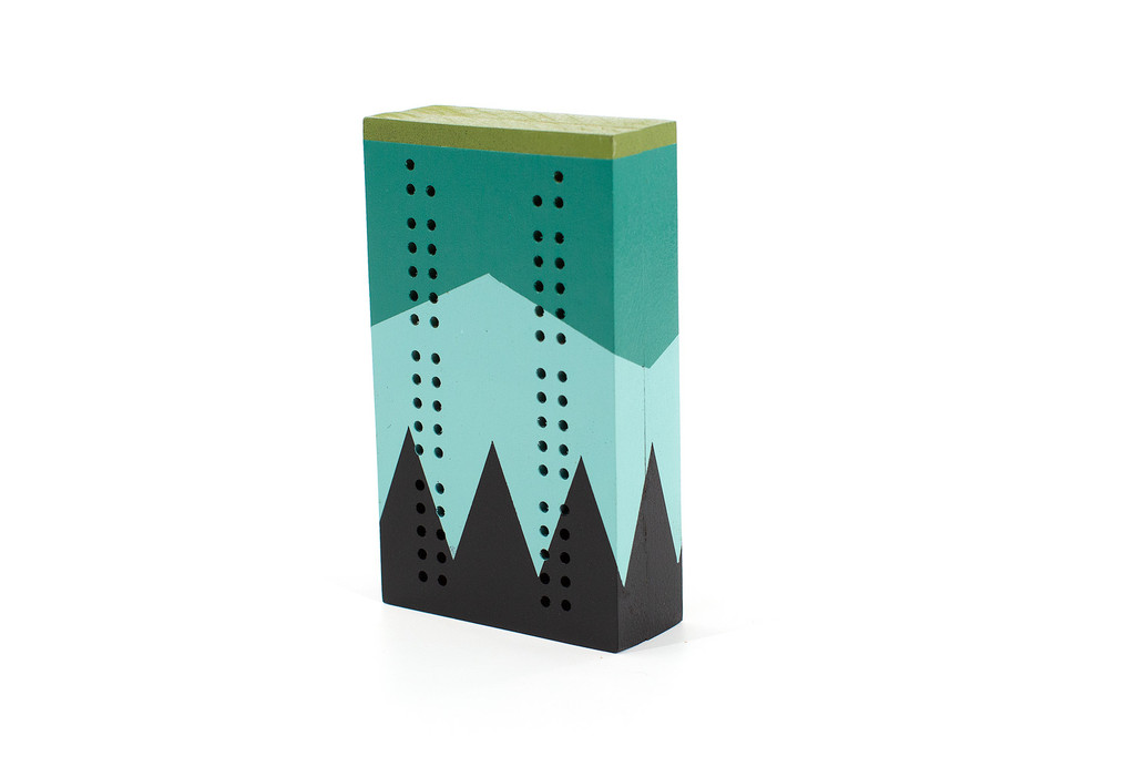 Cribbage Board with cards storage.