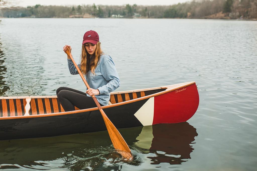 Pickwick Canoe livery shown on a Merrimack Traveler Canoe
