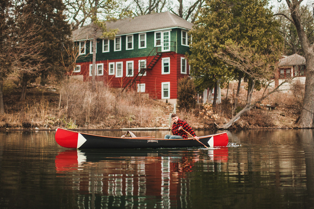 The perfect combination of a wood and composite canoe.