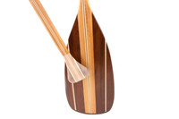 The bare grip of a Sanborn Canoe Co Gillis paddle.