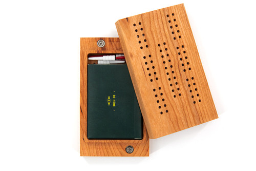 Travel Cribbage Board - Natural Cherry