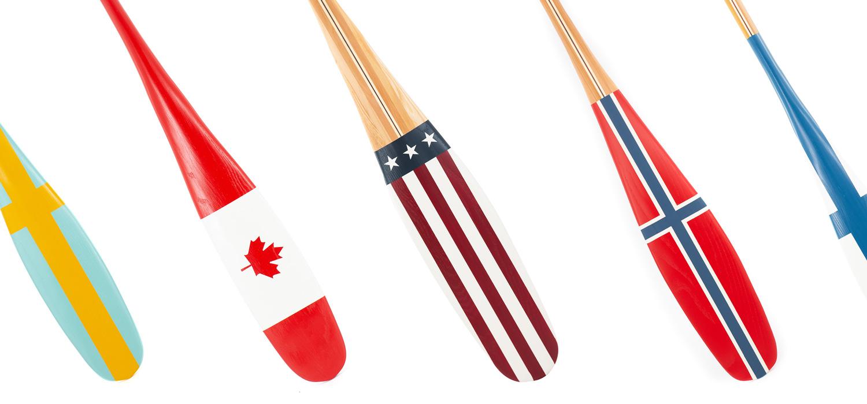 Sanborn Canoe Co. Painted Flag Paddles